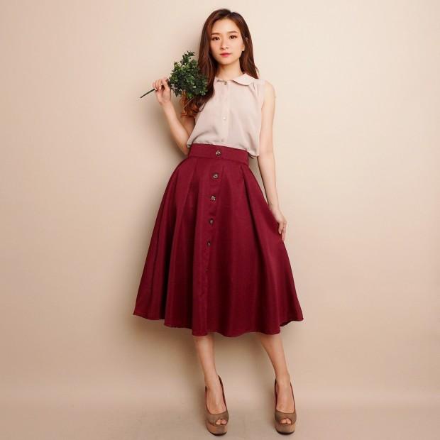 Annares Button Skirt