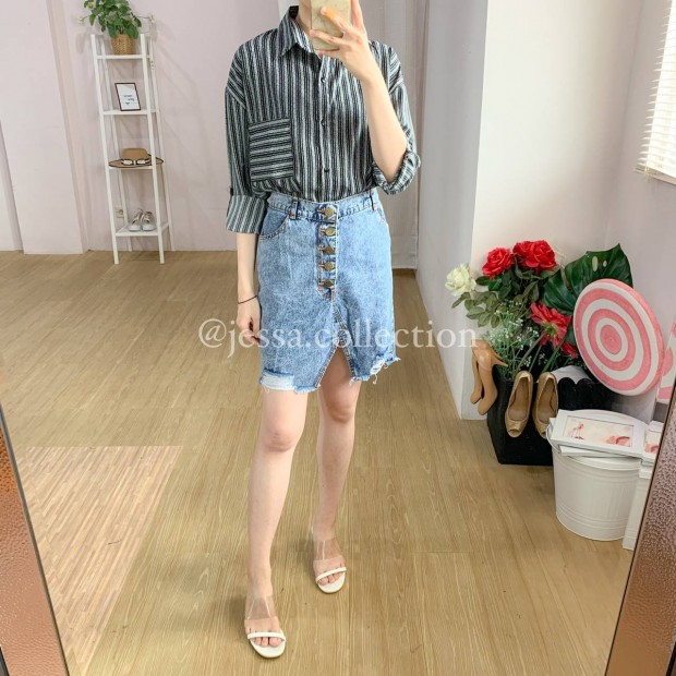 Arrata Ripped Skirt