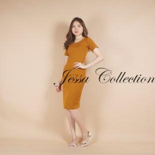 Mocca Plain Dress