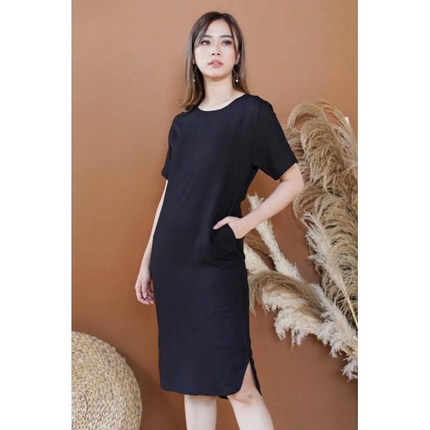 Viscose Plain Dress